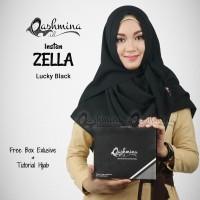 Jilbab Pashmina Instan Langsung Pakai Terbaru Zella Lucky Black