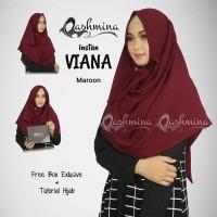 Jilbab Pashmina Instan Langsung Pakai Terbaru - Viana Maroon