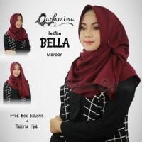 Jilbab Pashmina Instan Langsung Pakai Terbaru Bella Maroon