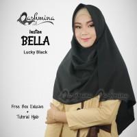Jilbab Pashmina Instan Langsung Pakai Terbaru Bella Lucky Black