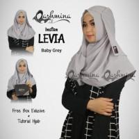 Jilbab Pashmina langsung pakai terbaru - Levia Grey