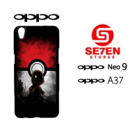 Custom Casing HP Oppo Neo 9 (A37) Pokemon Hardcase Cover