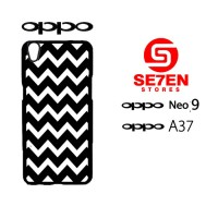 Custom Casing HP Oppo Neo 9 (A37) pattern white and black Hardcase Cov