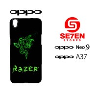 Custom Casing HP Oppo Neo 9 (A37) razer black Hardcase Cover