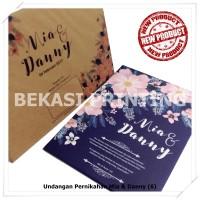 Undangan Pernikahan Single Hardcover Mia & Danny - Bekasi