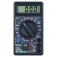 Pocket Size Digital Multimeter - DT830B - Black