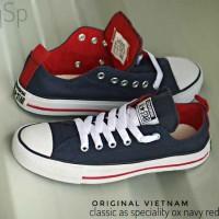 Sepatu Converse Classics Navy Red (37-43)