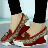 Sepatu wanita sneakers Wedges Slip On Gucci