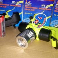Senter kepala selam / diving MS-201 | 3 mode cahaya | cahaya putih
