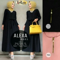 alexa maxy, maxi dress cantik, polos, simple model terbaru, murah