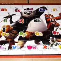 Jual Puzzle Kayu Edukasi Alfabet - Kungfu Panda Murah