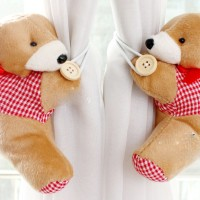 holder pengikat gorden gordyn gordin curtain teddy bear isi 2 C