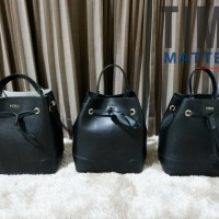 Furla Stacy Small Drawstring Bucket Bag | Authentic