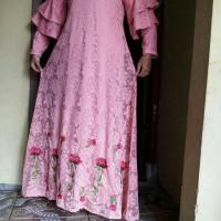 Jual dress brokat / Muslim / brokat