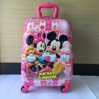 Jual Tas Koper Travel Anak Minnie & Mickey Mouse 16 Inch Murah