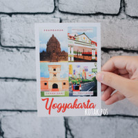 YOGYAKARTA JOGJA KARTU POS POSTCARD ILUSTRASI MALIOBORO SURAT MURAH
