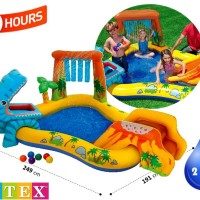 Kolam Renang Anak Dinosaur Kids Play Center Swimming Pool INTEX 57444