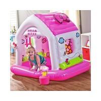Jual Mainan Play Center INTEX FUN COTTAGE HELLO KITTY Rumah Balon 48631 Murah