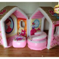 Princess Play House Lodge for Girls INTEX 48635 Rumah Balon Anak Pink