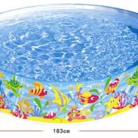 Kolam Anak / Kolam Renang INTEX Tanpa Pompa 183 cm SNAPSET POOL 56452