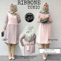 Ribbone Tunic Grey-Rose Pink