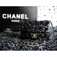 Chanel camellia flap bag in mini (black colour)