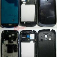 Casing Samsung S3 Mini i8190 Fullset Blue Original