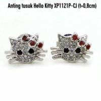 Jual Perhiasan Imitasi Murah Aksesoris Anting Hello Kitty Lapis Emas XP1121 Murah