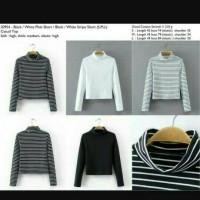 Jual Atasan/tshirt/Kaos Turtleneck stripe Murah