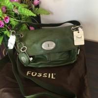 tas fossil green, fossil maddox, fossil ori, tas kulit, fossil murah