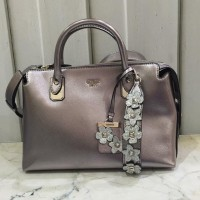 TAS WANITA IMPORT GUESS SATCHEL PEWTER ASLI ORIGINAL BRANDED
