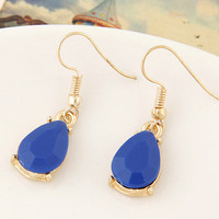 Jual Anting Gemstone Waterdrop Korea Import Pesta Hijab Etnik Bali Murah