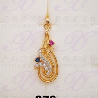 Yaxiya (anting gelang kalung) liontin perhiasan imitasi gold 18k 076