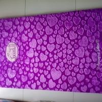 Sajadah busa bulu rasfur love ungu
