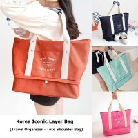 Korea Iconic Layer Bag / Travel Organizer Tote / Tas Shoulder