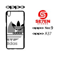 Custom Casing HP Oppo Neo 9 (A37) adidas whit black Hardcase Cover