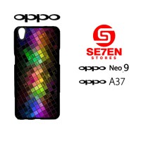 Custom Casing HP Oppo Neo 9 (A37) Squares Hardcase Cover