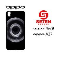 Custom Casing HP Oppo Neo 9 (A37) Jet Black dye Hardcase Cover