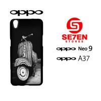 Custom Casing HP Oppo Neo 9 (A37) Vespa Hardcase Cover