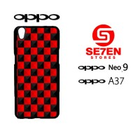 Custom Casing HP Oppo Neo 9 (A37) red and black cubes Hardcase Cover