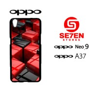 Custom Casing HP Oppo Neo 9 (A37) cool red black cubes creative 3d Har