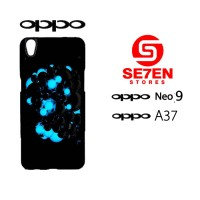 Custom Casing HP Oppo Neo 9 (A37) Black and blue balls Hardcase Cover
