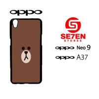 Custom Casing HP Oppo Neo 9 (A37) brown 1 Hardcase Cover