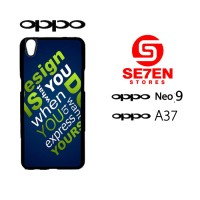Custom Casing HP Oppo Neo 9 (A37) Simple Hardcase Cover
