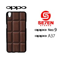 Custom Casing HP Oppo Neo 9 (A37) cokelat Hardcase Cover