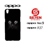 Custom Casing HP Oppo Neo 9 (A37) black cat Hardcase Cover