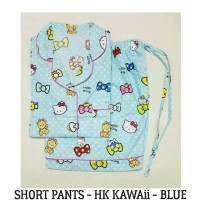 Piyama Hello Kitty Dewasa - HK Kawaii Blue Short Pants Pajamas Murah