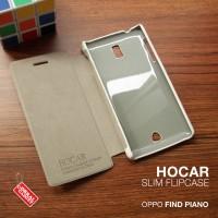 Oppo Find Piano R8113 HOCAR Slim Leather Flip Case Flip Berkualitas