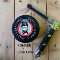 Jual POMADE + SISIR LIPAT( pomade murah + switchblade comb) Murah