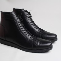 Sepatu boot Pria Boston Legion Full Black (brodo,converse,kicker,bally